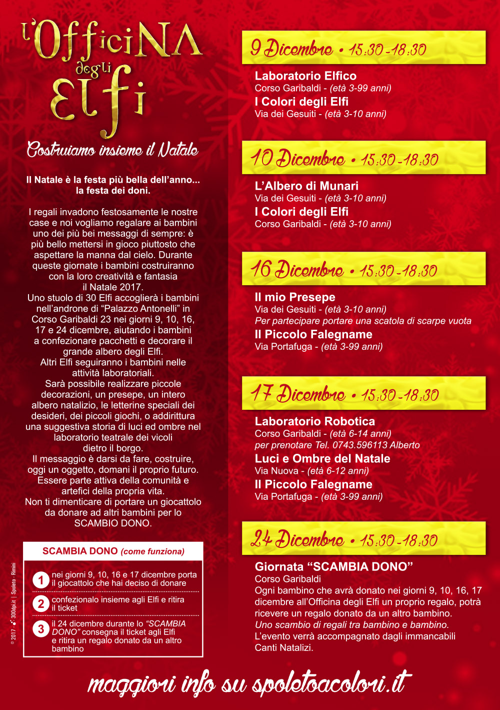 L'Officina degli Elfi - Programma - Spoleto 2017